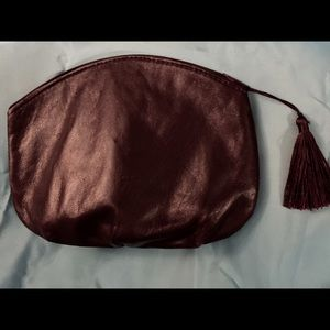 Vintage Italian leather make up pouch circa 1970's
